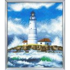 The Lighthouse - Crystal Art Picture Frame Kit 21 x 25cm