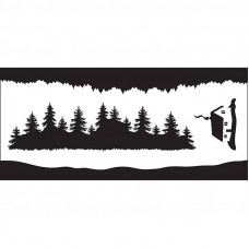 Creative Expressions - Forest Elements DL Stencil
