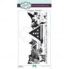 Designer Boutique Collection - Happy Holidays DL Pre Cut Rubber Stamp