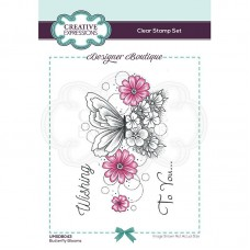 Designer Boutique Collection - Butterfly Blooms A6 Clear Stamp - DISPATCHING WEDNESDAY 3rd MARCH