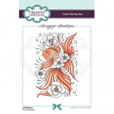 Designer Boutique Collection - Floral Bubbles A6 Clear Stamp - DISPATCHING WEDNESDAY 3rd MARCH