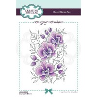 Designer Boutique Collection - Orchids In Bloom A6 Clear Stamp