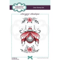 Designer Boutique Collection - Jewelled Beetle A6 Clear Stamp