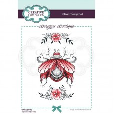 Designer Boutique Collection - Jewelled Beetle A6 Clear Stamp - DISPATCHING WEDNESDAY 3rd MARCH