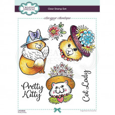 Designer Boutique Collection - Pretty Kitties A5 Clear Stamp