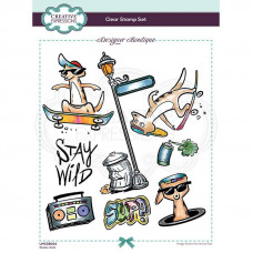 Designer Boutique Collection - Skate-Kats A5 Clear Stamp
