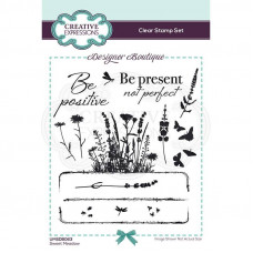 Designer Boutique Collection - Sweet Meadow A6 Clear Stamp Set