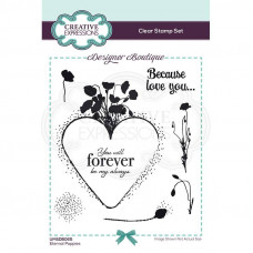 Designer Boutique Collection - Eternal Poppies A6 Clear Stamp Set