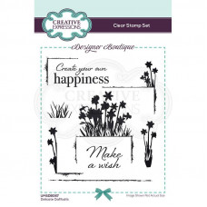 Designer Boutique Collection - Delicate Daffodils A6 Clear Stamp Set