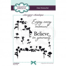 Designer Boutique Collection - Rose Trail A6 Clear Stamp Set