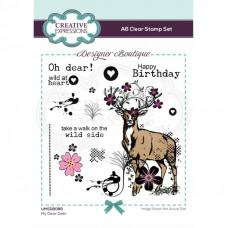 Designer Boutique - My Dear Deer A6 Clear Stamp Set