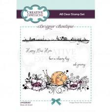 Designer Boutique - Slow Jo Snail A6 Clear Stamp Set