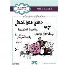 Designer Boutique - Missy Mouse A6 Clear Stamp Set