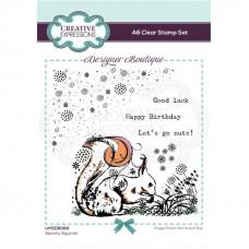 Designer Boutique - Sammy Squirrel A6 Clear Stamp Set