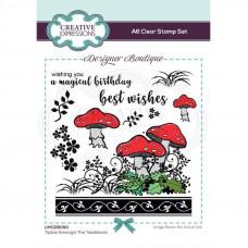 Designer Boutique - Tiptoe Amongst The Toadstools A6 Clear Stamp Set
