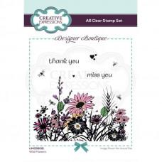 Designer Boutique - Wild Flowers A6 Clear Stamp Set
