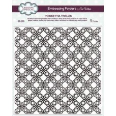 Emboss Folder 8 x 8 Poinsettia Trellis