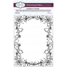 Emboss Folder 5 3/4 x 7 1/2 Poinsettia Frame