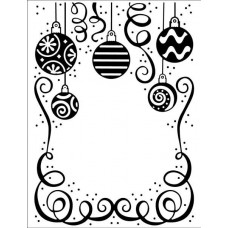 Embossing Folder - Bauble Celebration