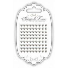 Adhesive Pearls - Pearl Hearts