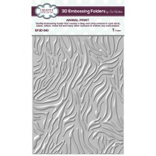 January Collection - 3D Embossing Folder - Animal Print
