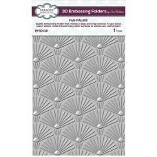 January Collection - 3D Embossing Folder - Fan Palms
