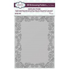 January Collection - 3D Embossing Folder - Swirling Frame