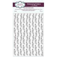 Embossing Folder A4 Art Deco Rose Swirl