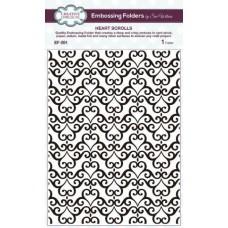 Embossing Folder - Heart Scrolls