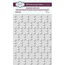 Creative Expressions 3D Embossing Folder - Diamond Droplets