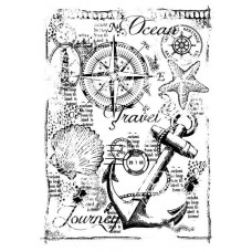 Woodware Clear Singles Stamps - Nautical Collage