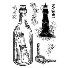 Woodware Clear Singles Stamps - Message in a Bottle
