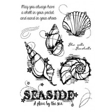Woodware Clear Singles Stamps - Seashells