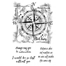 Woodware Clear Singles Stamps - Compass