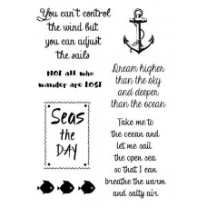 Woodware Clear Singles Stamps - Nautical Sayings