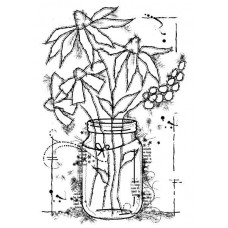 Woodware Clear Singles Stamps - Flowers in a Jar