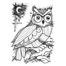 Woodware Clear Singles Stamps - Midnight Owl