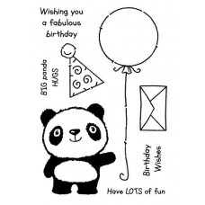 Woodware Clear Singles Stamps - Panda Birthday
