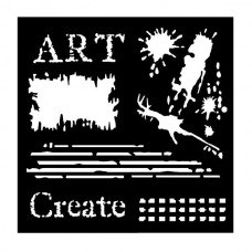 "Woodware 6"" x 6"" Stencil - Art"