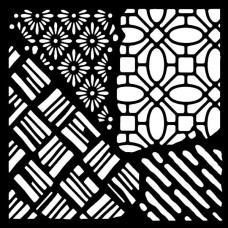 """Woodware 6"""" x 6"""" Stencil - Quattro"""