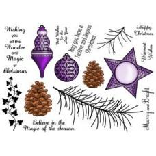 Umount Pine Cone Christmas A5 Stamp Plate