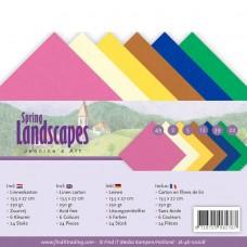 Jeanine's Art Spring Landscapes 4K Linen Card