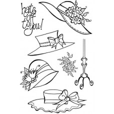 Woodware Clear Singles Stamps - Four Hats