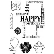 Woodware Clear Singles Stamps - Birthday Grid