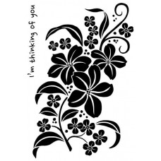 Woodware Clear Singles Stamps - Magnolia Spray