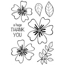 Woodware Clear Singles Stamps - Bold Blooms Amanda