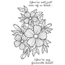 Woodware Clear Singles Stamps - Bold Blooms Fiona