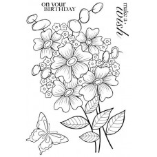 Woodware Clear Singles Stamps - Bold Blooms Beatrice