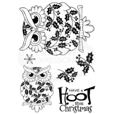 Woodware Clear Singles - Christmas Owl