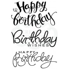 Woodware Clear Singles Big Birthday Words
